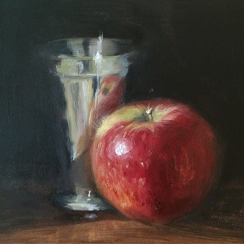 Still Life with Apple and Silver Cup (2015)