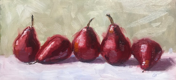 Red Pears in a Row (2018)