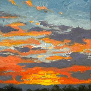 "Red Sky Sunset (5""x7"")"