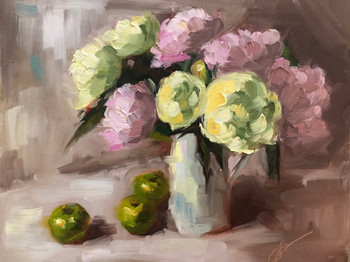 Peonies and Green Apples (2019)