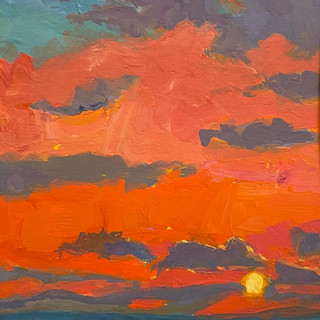 """Red Sky at Night (5""""x7"""")"""