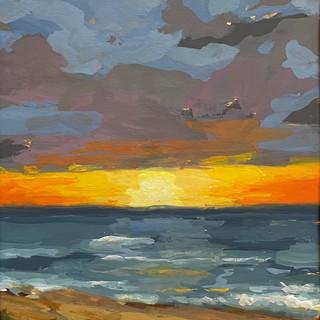 "Sunset Over the Chesapeake (5""x7"")"