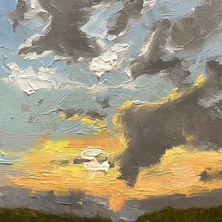 """Last Light Through the Clouds (5""""x7"""")"""