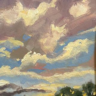 "Cloud Strewn Sky  (5""x7"")"
