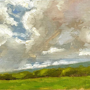 "Distant Rain, Washington County, MD (5""x7"")"