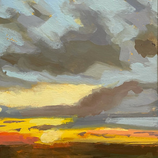"Soft Light at Sunset (5""x7"")"