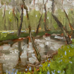 "Spring Rain at Bull Run (5""x7"")"