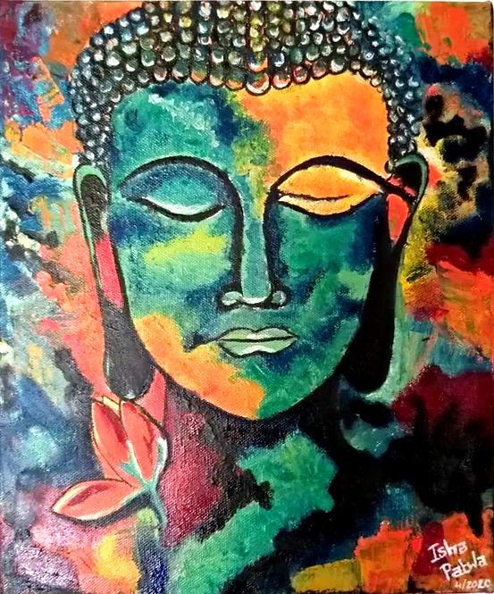 "Serenity of Gautam Buddha - 10""x12"""