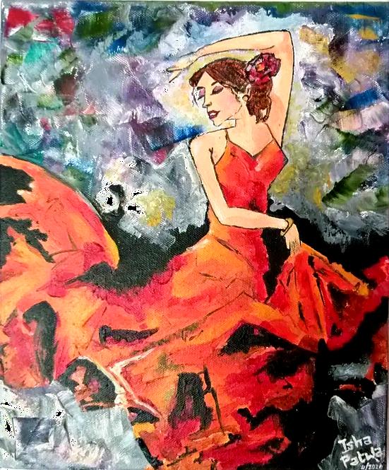 """The Flamenco dancer - 10""""x12"""""""