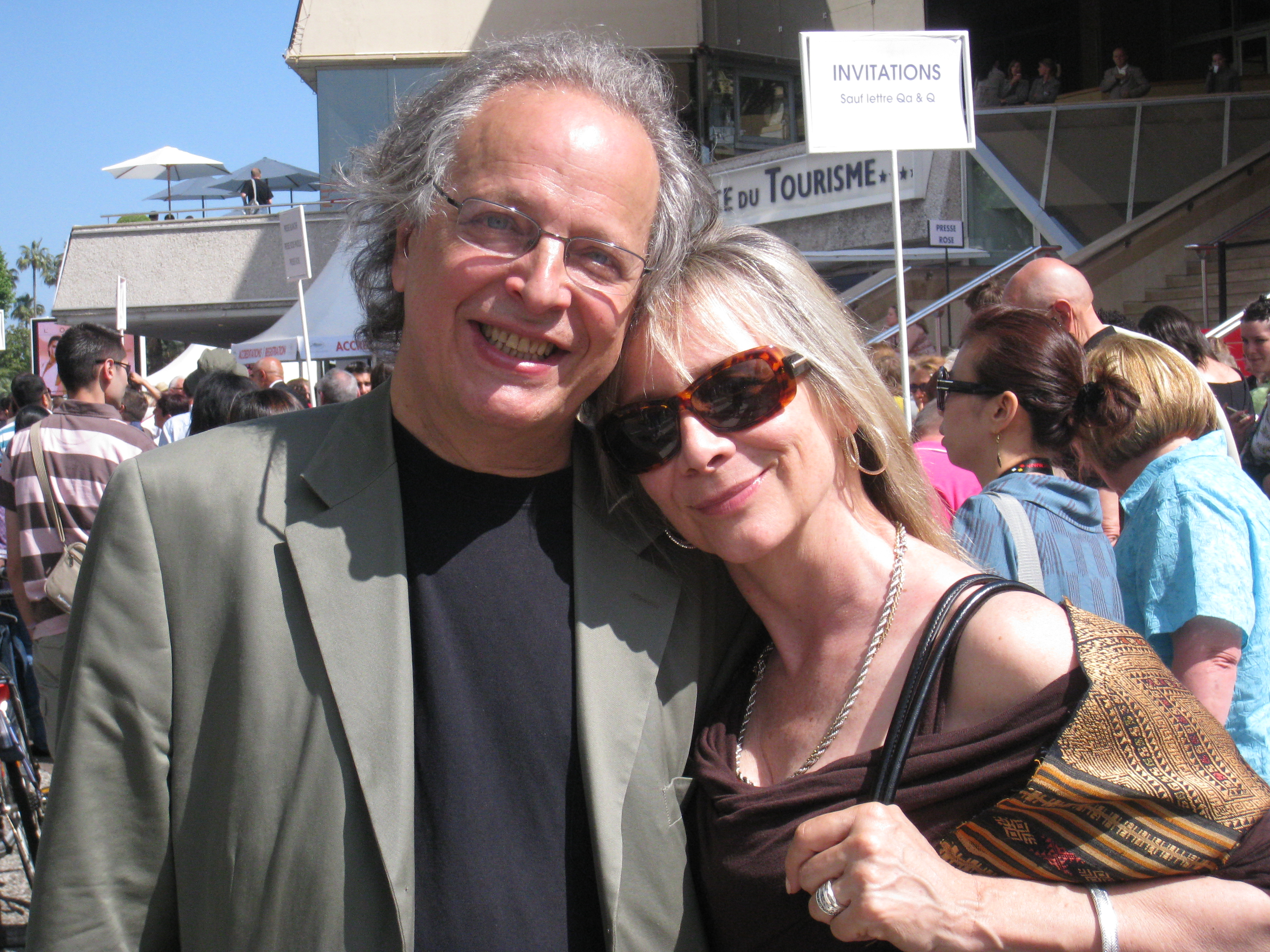 Miimi with Jimmy Shuman in Cannes