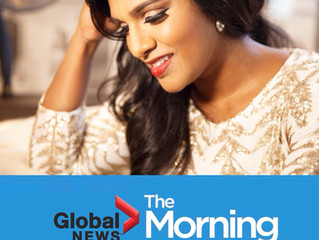 Catch me on Global Morning - Toronto!