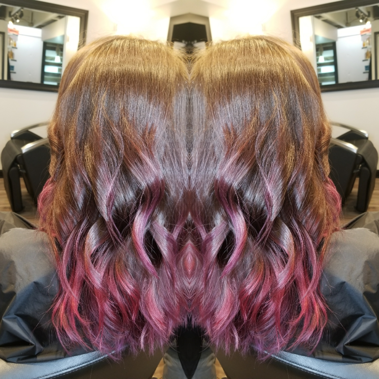 Pink/ Purple Ombre