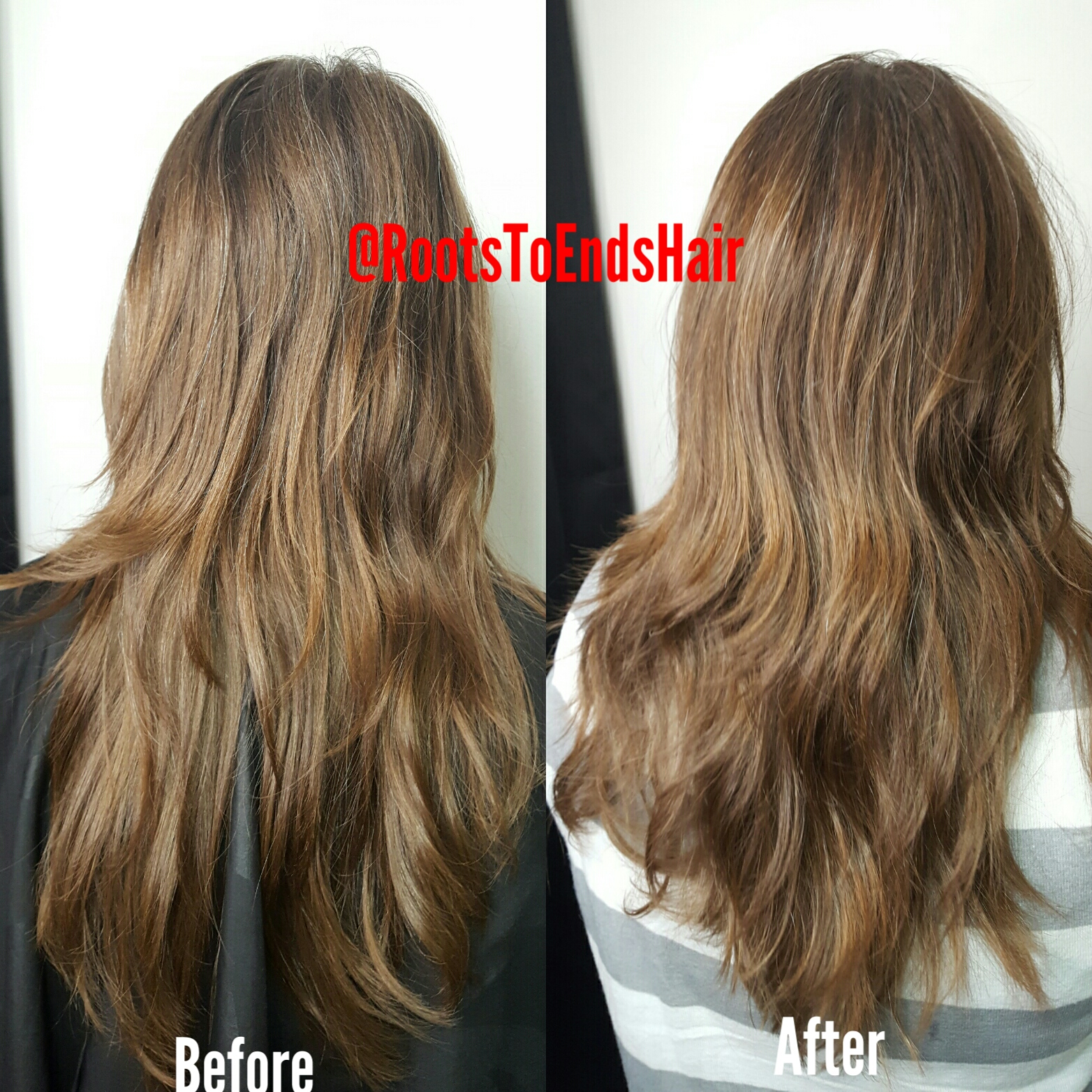 Cut with the natural waves.