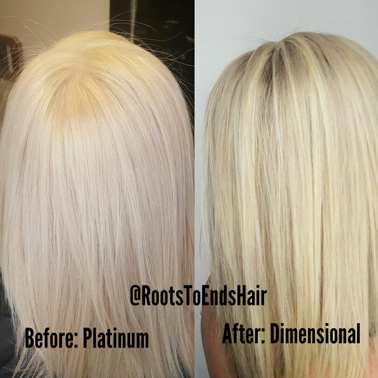 Blonde hair for days.