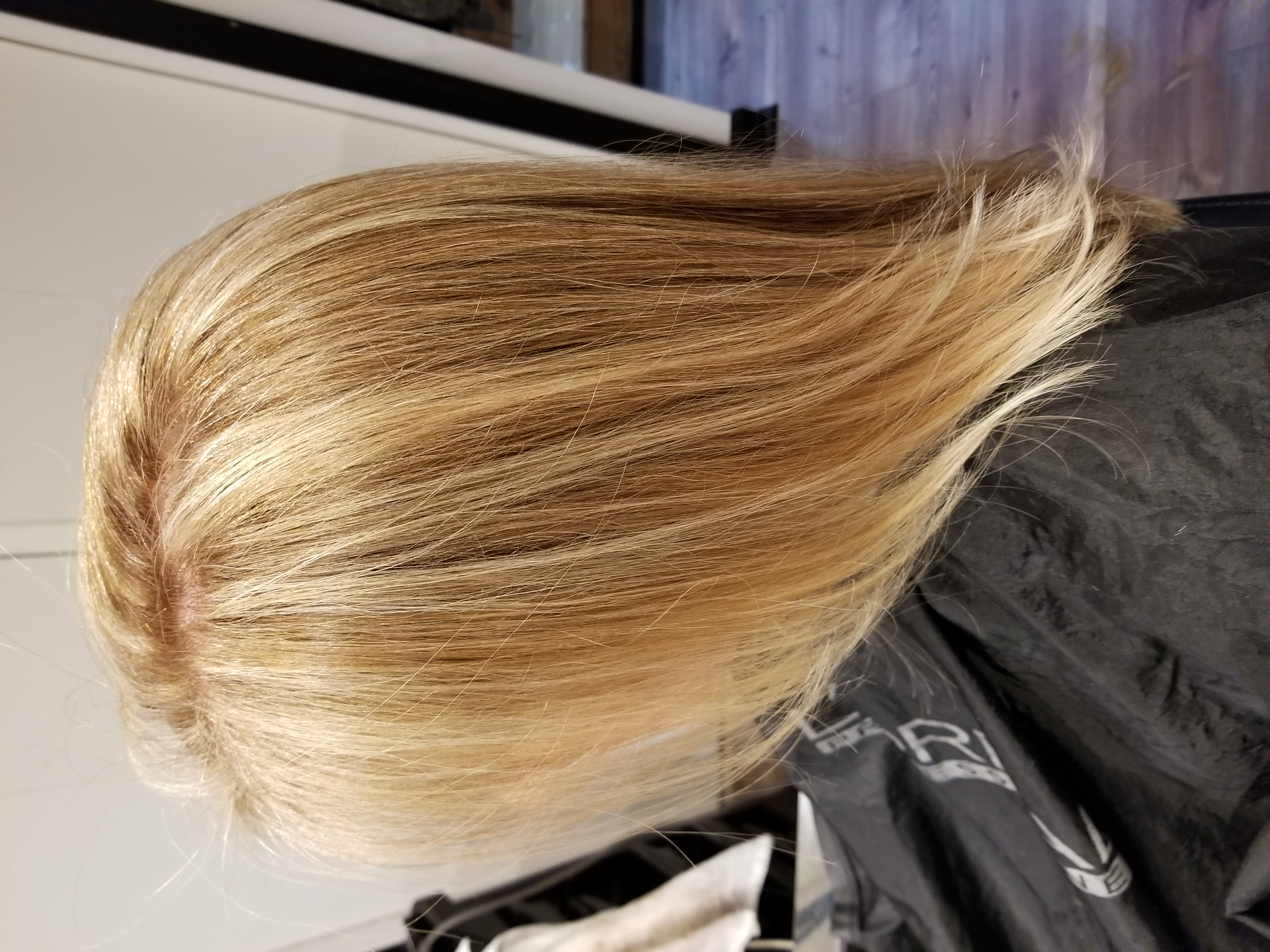 Refreshed her highlights