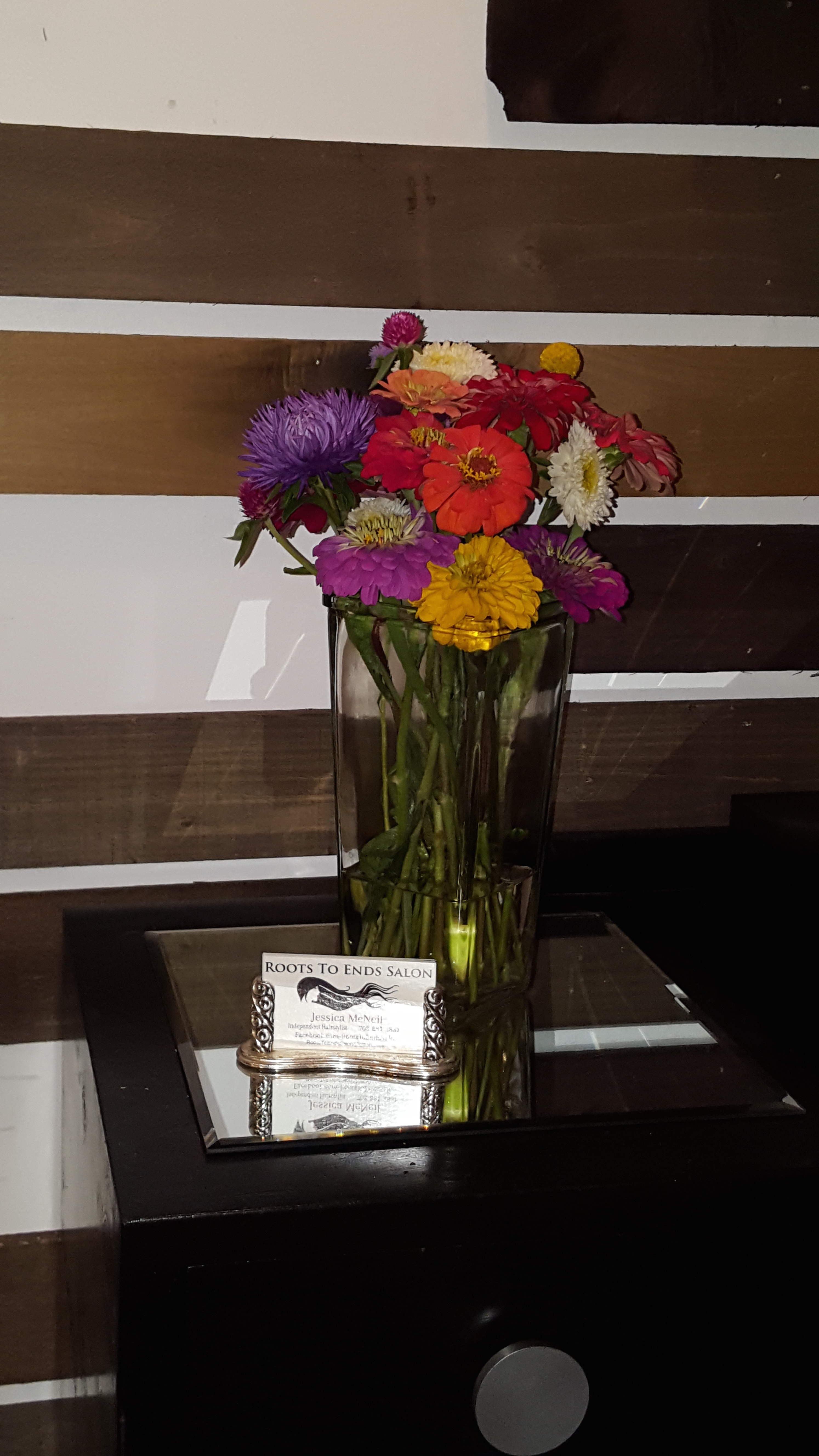 Thanks Nancy for the home grown flowers!