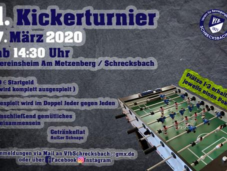 1. VfB Kickerturnier 07.03.2020