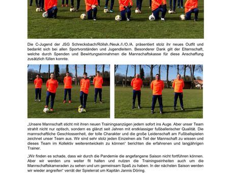 C-Jugend der JSG Schrecksbach/Röllsh./Neuk./I./O./A. präsentiert sich im neuen Look