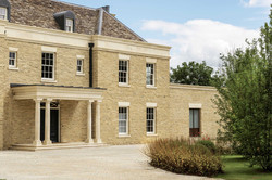 Stone portico and finishes