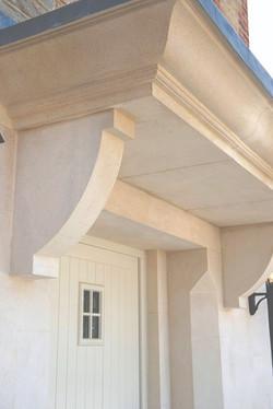 Bath stone door canopy