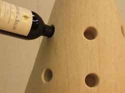 Stone wine rack