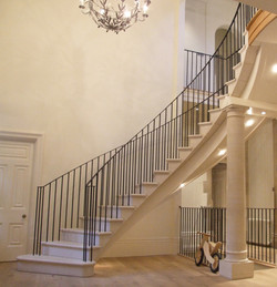 Stone staircase and pillars