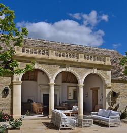 Stone arches and ballustrades