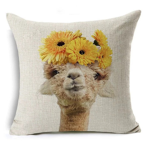 FLOWER POWER - Alpaca cushion