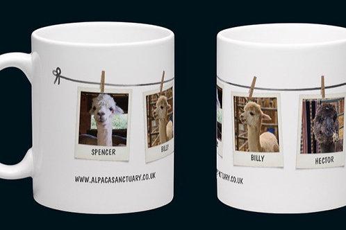 Alpaca family wraparound mug