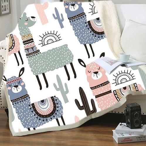 Large 200x150cm super soft Aztec Alpaca blanket
