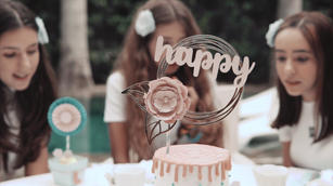 Topo de Bolo Happy