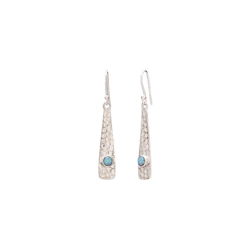 Hammered Opal Dropped Earrings