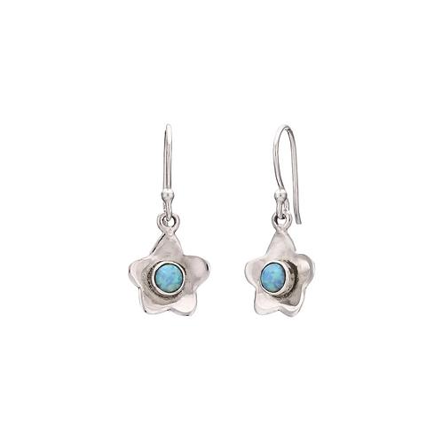Small Opal Daisy Earrings