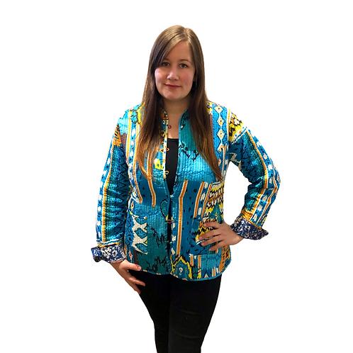 Kantha Jacket - Turquoise