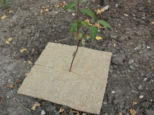 "18"" x 18"" Biodegradable Weed Mat - Qty 50"