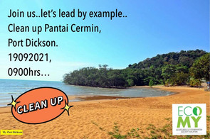 Clean Up Pantai Cermin, Port Dickson