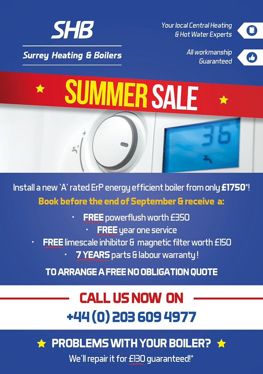 Surrey Heating & Boilers Special Offer Leaflet