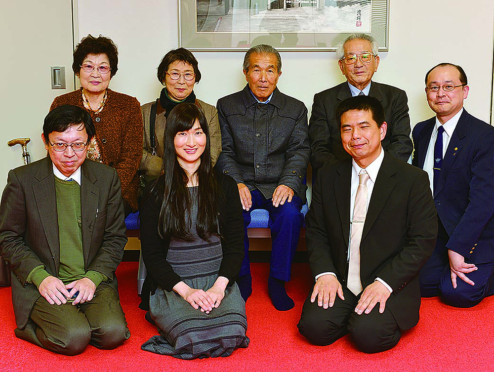 Mr. Iwao Nakajima in the center with his Buddhist Friends on February 12, 2017.