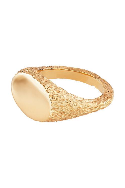 GOLD PLANET SIGNET RING