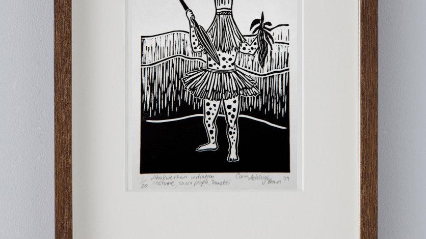 Abakwethan initiation costume, Xhosa people, Transkei