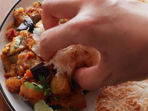 Eggplant and Potato Bhaji Recipe