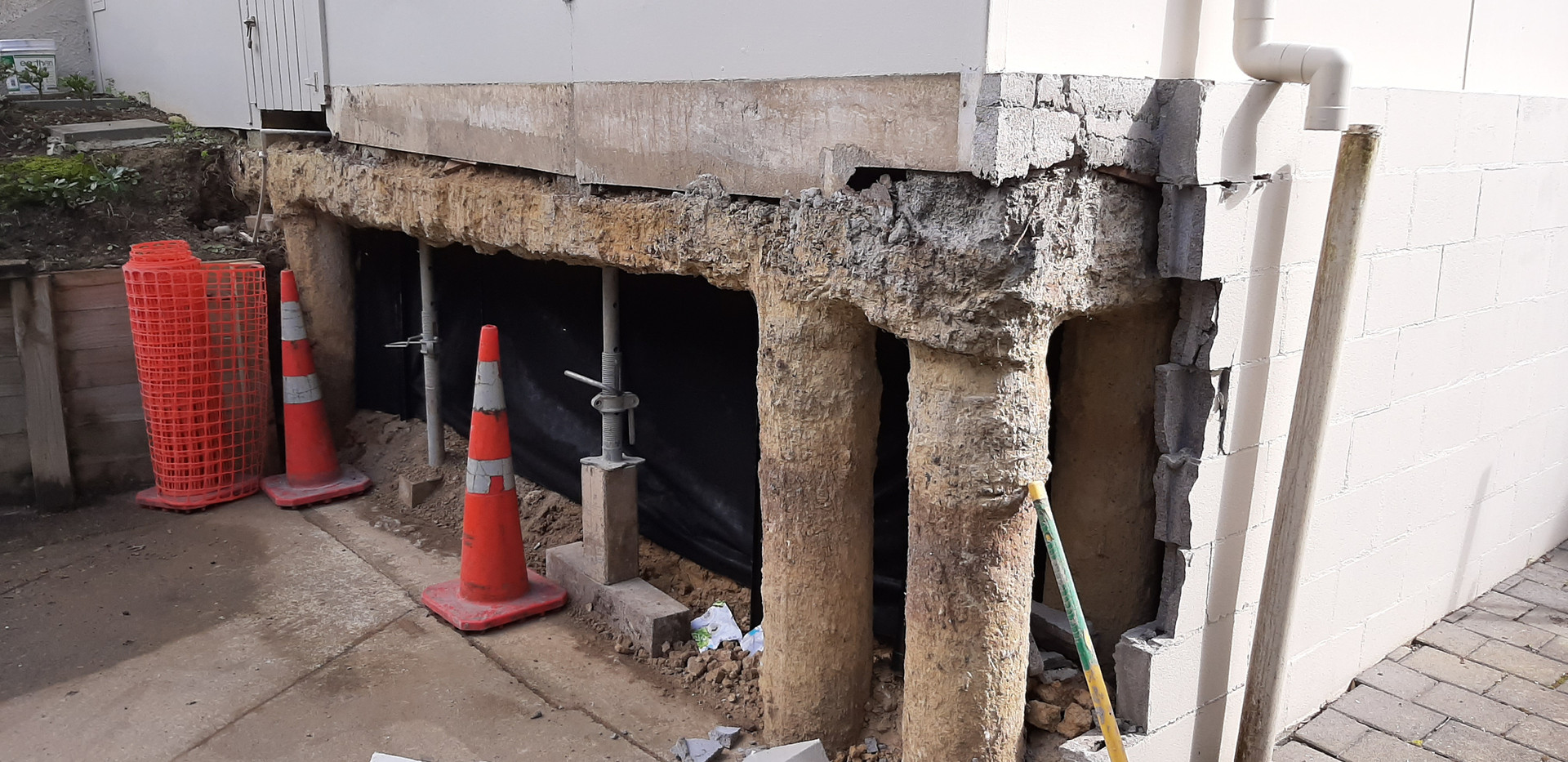 New block work and bond beam St Heliers
