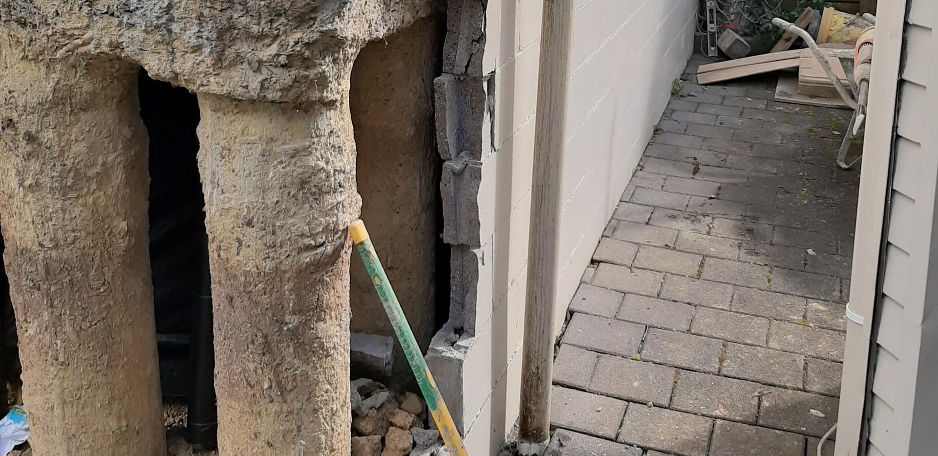 Bond beam repairs