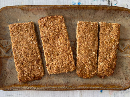 Sugar-Free Salty-Sweet Granola Bars