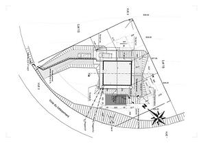Plan masse projet extension d'une villa , Annecy , Haute-Savoie