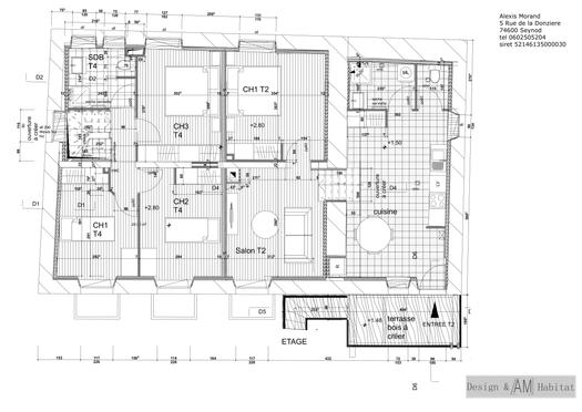 plan de l'etage projet