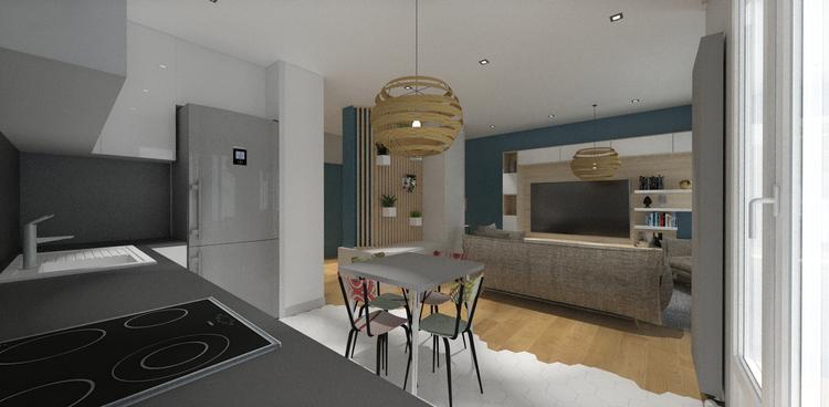 VUE 3d projet renovation appartement