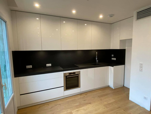 vue cuisine rénovation appartement Annec