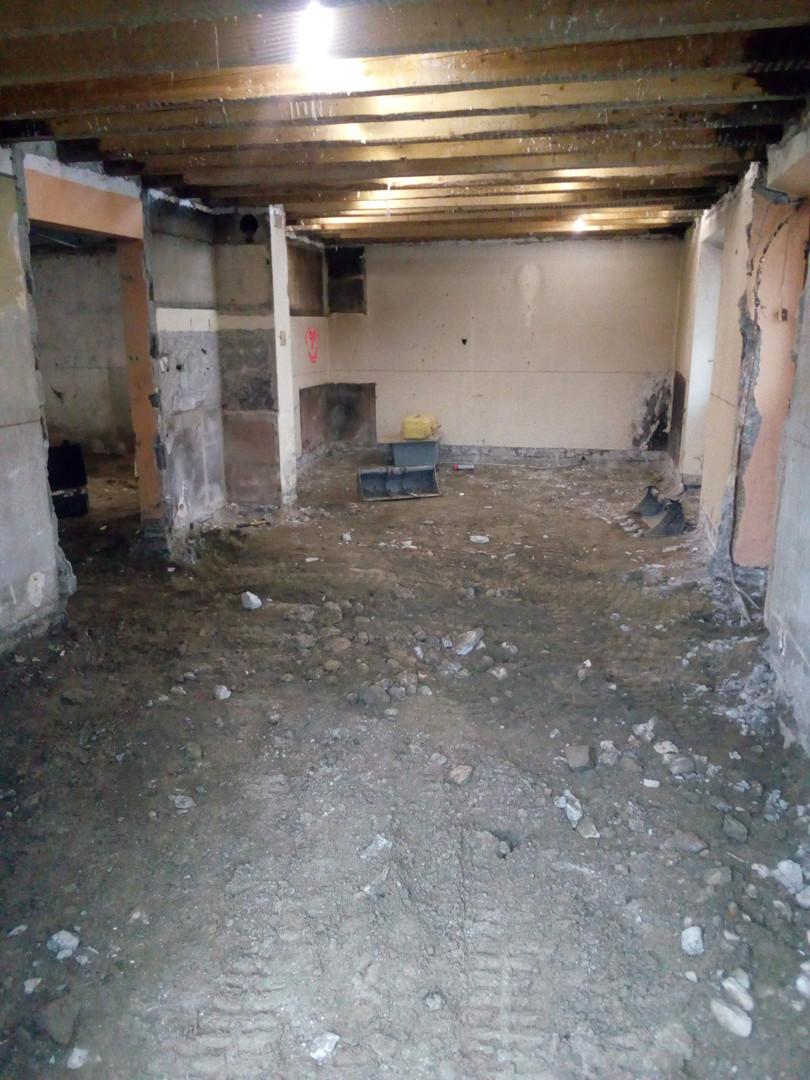 vue interieur apres demolition