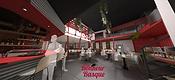 etude graphique pour la conception d'unrestaurant par l'architecte Alexis Morand à Annecy
